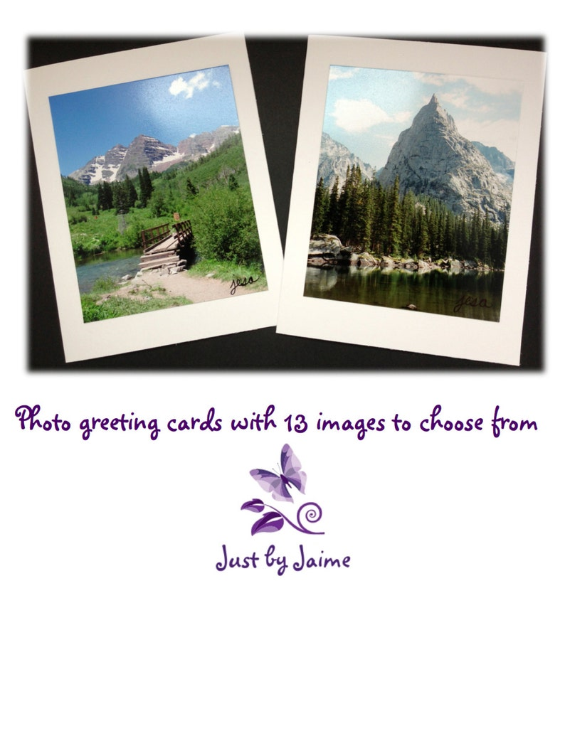 Handmade greeting cards with professionally printed nature image 0