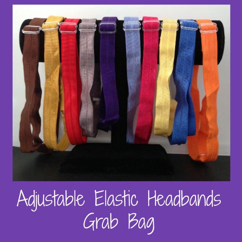 Grab bag of adjustable elastic headbands  sets 3 6 or 12   image 0