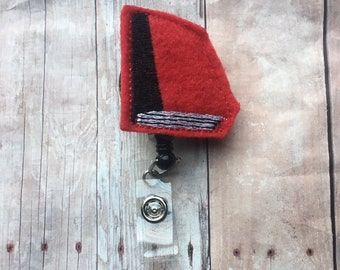Red book badge reel -- perfect gift for your favorite teacher, librarian, or book lover -- show your appreciation