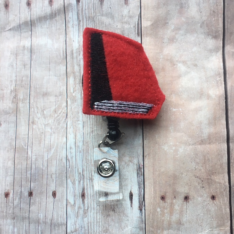 Red book badge reel/badge holder  perfect gift for your image 0
