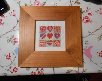 Hearts Sampler PDF Cross Stitch Pattern