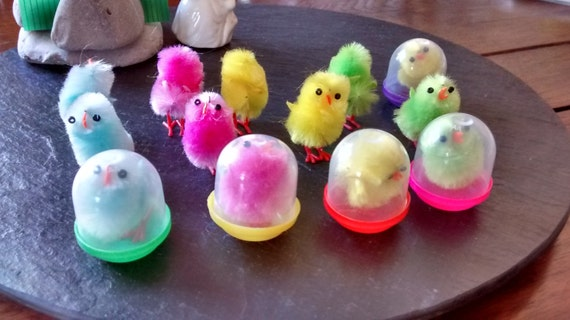 FAST FREE P/&P ADORABLE MINIATURE 5 CHICKS EASTER FAIRY GARDEN