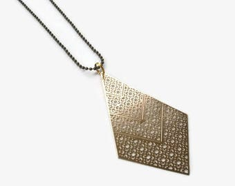 Geometric Necklace Gold Necklace Minimal Necklace Modern Necklace Simple Necklace  Charm Necklace Pendant