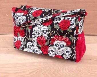 Diaper Bag- Skulls And Roses