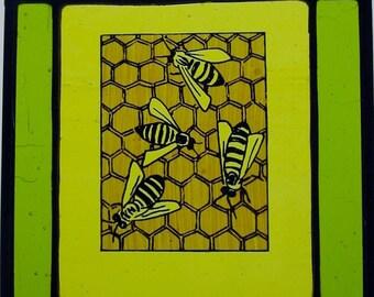4 Honey Bees Patina
