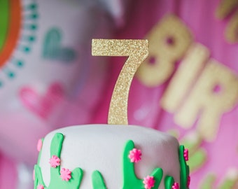 7 Seven Cake Topper – 7th Birthday Party – Seventh Birthday Party – 7 Birthday Décor – 7th Birthday Party Decor