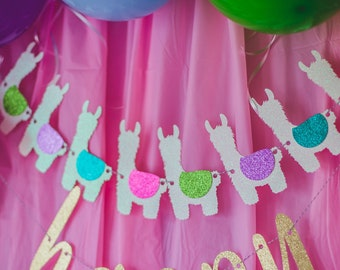 Llama Banner – Llama Birthday Theme Party – Cactus Llama Birthday Banner – Llama Décor – Llama Party Decor
