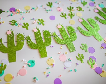 Cactus with Flowers Banner – Cactus Birthday Theme Party – Cactus Llama Birthday Banner – Cactus Décor – Cactus Party Decor