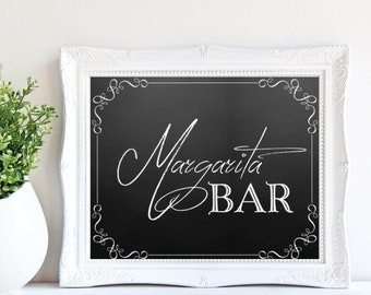 Margarita Bar Sign, Wedding Bar Sign, Bar Decor, Instant Download