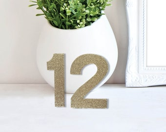 Wedding Glitter Table Numbers – Modern Wedding Decor – Stand Alone Event Table Numbers – Wedding Décor – Wedding Decoration