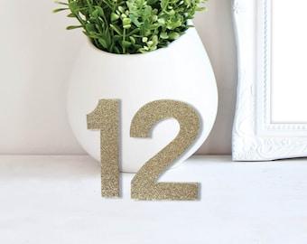 Wedding Glitter Table Numbers – Modern Wedding Decor – Stand Alone Event Table Numbers – Wedding Décor – Wedding Decoration