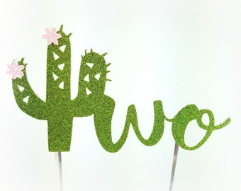 Cactus Cake Topper, Cactus birthday cake toppers, flower, Second two 2 Birthday cake, Smash Cake, birthday decorations, taco twosday
