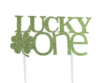 Lucky One Cake Topper – Saint Patrick's Day Theme Party – First Birthday Party – St. Patty's Day Birthday Décor – Shamrock Party Decor