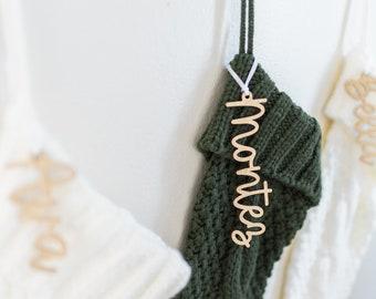 Stocking Name Tags, Stocking Tags, Christmas Gift Tags, Stocking Name Tag