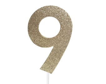 9 nine Cake Topper – 9th Birthday Party – ninth Birthday Party – 9 Birthday Décor – 9th Birthday Party Decor