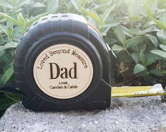 Fathers Day Gift, Personalized Tape Measure, Gift for Dad