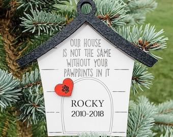 Pet Memorial Christmas Ornament, Holiday Ornament, Pet Christmas, Photo Keepsake Ornament, Personalized Keepsake Gift