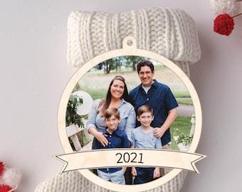 Photo Christmas Ornament, Photo Holiday Ornament, Family Christmas, Photo Keepsake Ornament, Personalized Keepsake Gift