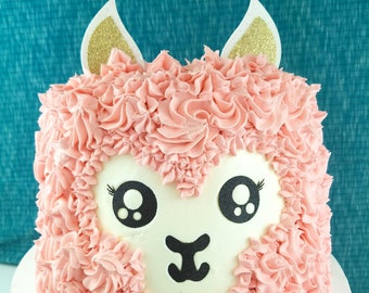 Llama Cake Topper, Cactus birthday cake toppers, Birthday cake, Smash Cake, birthday decorations, Drama