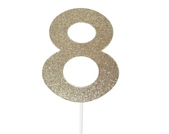 8 eight Cake Topper – 8th Birthday Party – eighth Birthday Party – 8 Birthday Décor – 8th Birthday Party Decor