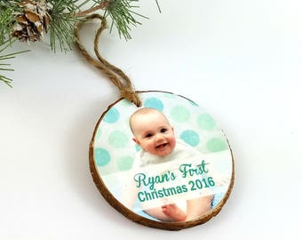 Photo Christmas Ornament – Photo Holiday Ornament – Baby's First Christmas - Photo Keepsake Ornament - Personalized Keepsake Gift