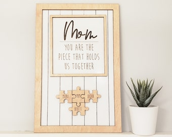 Mother's Day Puzzle Sign, Gift for Mom, Mother's Day Gift