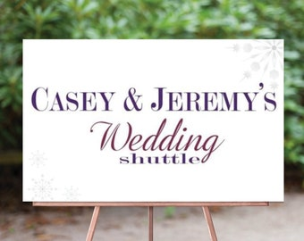 Wedding Shuttle Sign