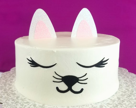 Kitty Cat Cake Topper, birthday cake toppers, Birthday cake, Smash Cake, birthday decorations, Cat Face Cake