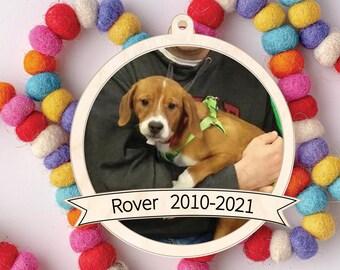 Photo Christmas Ornament, Photo Holiday Ornament, Pet Christmas, Photo Keepsake Ornament, Personalized Keepsake Gift