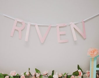 Custom Name Banner - Bridal Shower - Baby Shower