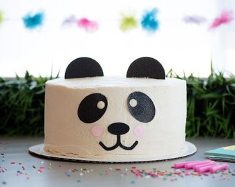 Panda Bear Topper – Panda Theme Party – Panda Birthday Party – Glitter Party Décor – Panda Birthday Décor – Panda Party Decor