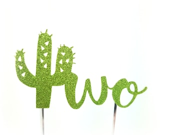 Cactus Cake Topper, Cactus birthday cake toppers, Second two 2 Birthday cake, Smash Cake, birthday decorations, taco twosday