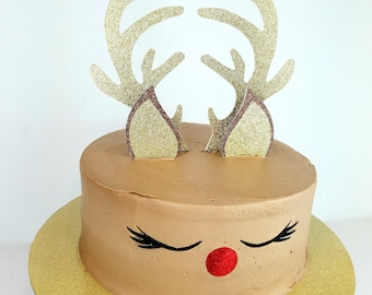 more colors reindeer cake topper christmas cake toppers