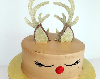 more colors reindeer cake topper christmas cake toppers - Christmas Cake Decorations