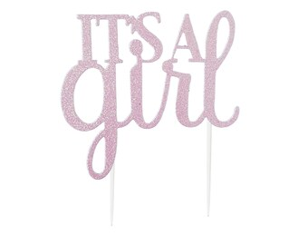 It's a Girl Cake Topper - It's a Girl Baby Shower - Gender Reveal Party - Baby Shower Cake Topper - Baby Announcement - Baby Shower Décor