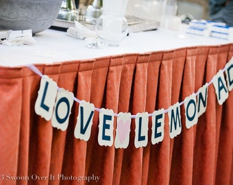 Bridal Shower/ Wedding Banner: Love and Lemonade