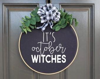 Swap-It Door Decor Insert - It's October Witches