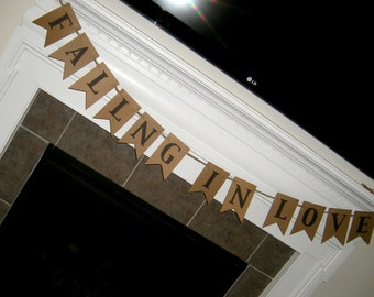 Wedding - Bridal Shower Banner: Falling in Love