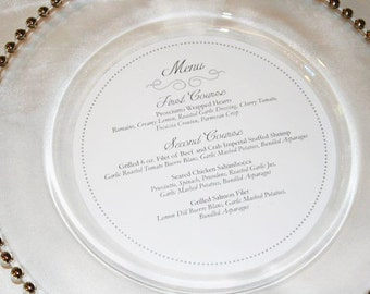 Circle Menu - Wedding - Charger - 100