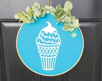 Swap-It Door Decor Insert - Ice Cream Cone