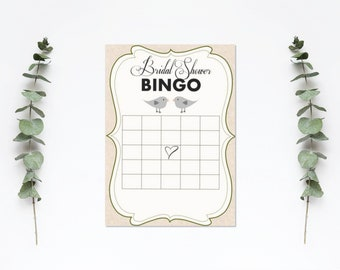 Bridal Shower Bingo - Love Birds
