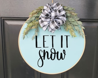 Swap-It Door Decor Insert - Let it Snow
