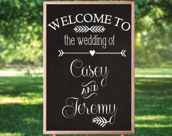Wedding Welcome Sign - Chalkboard