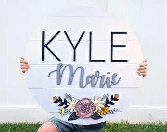 Custom Name Sign, Kids Room Decor, Wooden Name Sign, Nursery Wall Art