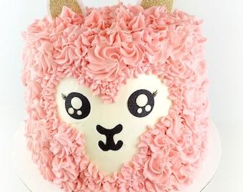 Llama Cake Topper, for Llama Party
