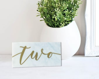 Wedding Marble and Gold Table Numbers – Marble Wedding Decor – Event ScriptTable Numbers – Wedding Décor – Wedding Decoration
