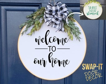 Swap-It Door Decor Insert - Welcome to Our Home