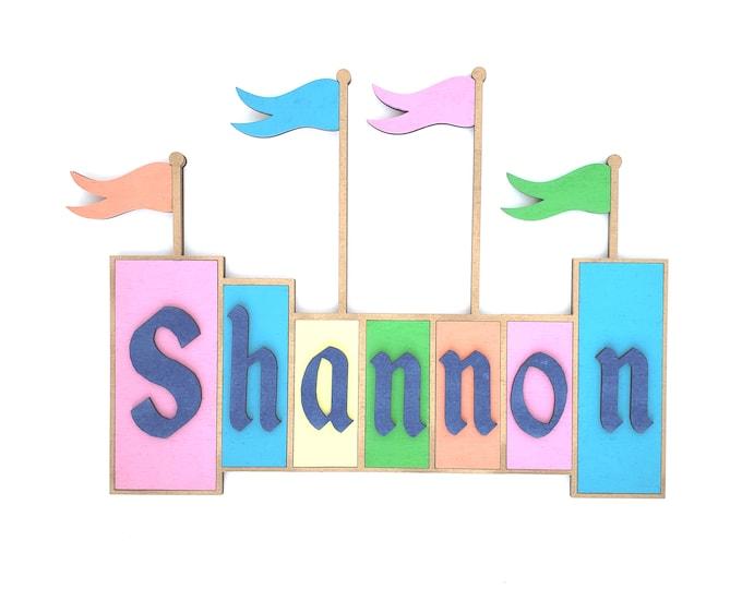 Featured listing image: Custom Name Sign, Disneyland Sign, Kids Room Decor, Baby Name Sign