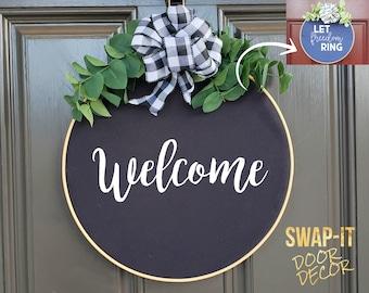 Swap-It Door Decor Insert - Welcome