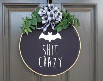 Swap-It Door Decor Insert - Bat Crazy